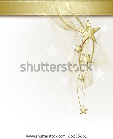background with golden stars - stock photo