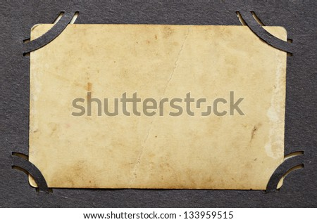 Background with texture of grunge old photo in an album - stock photo