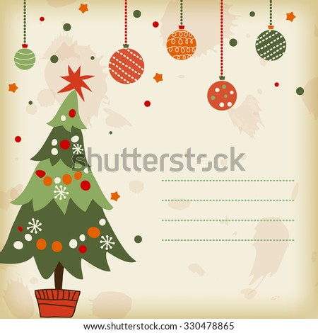 background with the image of a Christmas tree - stock photo