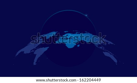 background with world map in blue colors