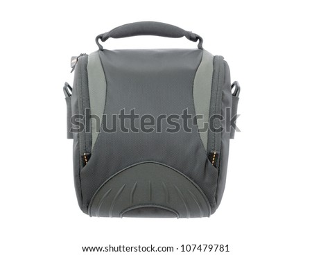 bag for the camera isolated on white background. - stock photo