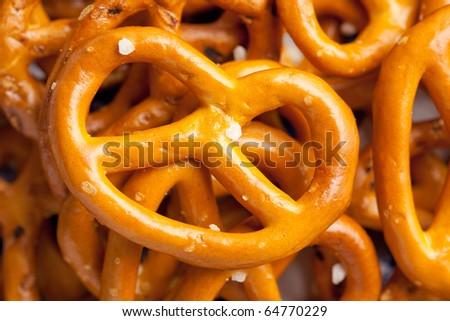 baked pretzels - stock photo