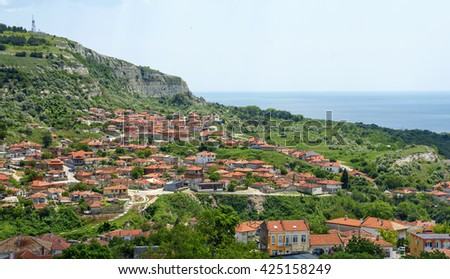Balchik view, small town on the Black Sea coast and famous seaside resort , Bulgaria