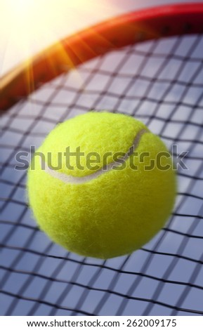 Ball and Racket - stock photo