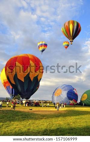 Balloon Race, Reno NA Sept.12 2009 Annual Event - stock photo