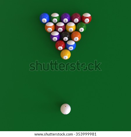 8-Balls Pool Setup - Birdu0027s Eye View  sc 1 st  Shutterstock & 8 Balls Pool Setup Birds Eye View Stock Photo u0026 Image (Royalty-Free ...