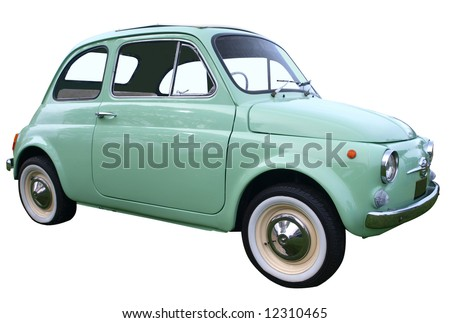 1973 Bambino isolated with clipping path - stock photo