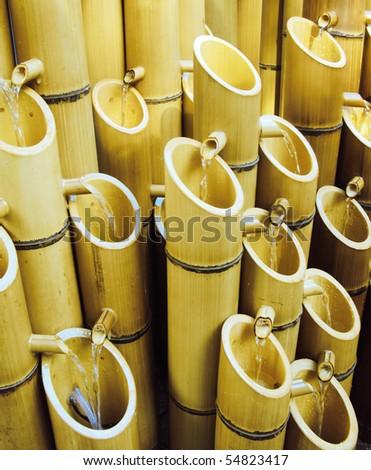 bamboo fountain - stock photo