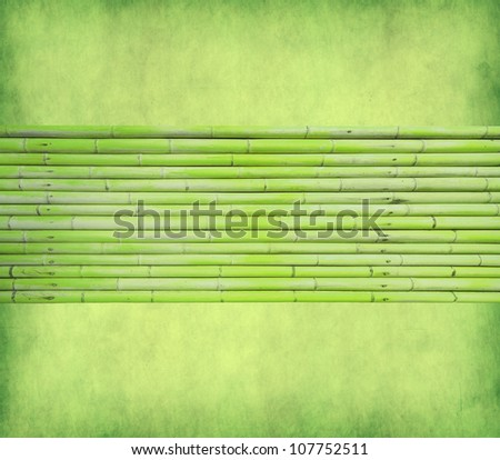 bamboo  with texture of handmade paper - stock photo