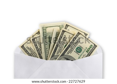 $100 banknotes in envelope