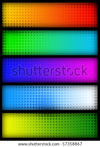 banner set - stock photo