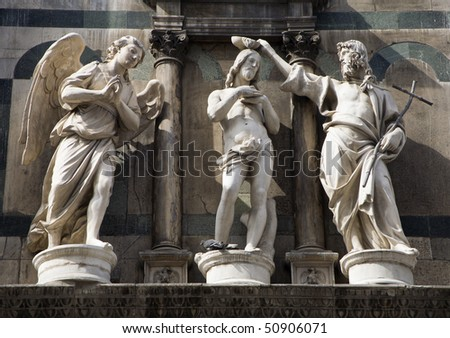 baptism of christ - statue from Florence - baptistery of st. John