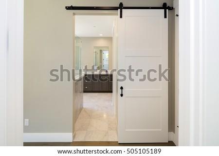 Barn Door series. Modern sliding door. & Sliding Door Stock Images Royalty-Free Images \u0026 Vectors ... Pezcame.Com