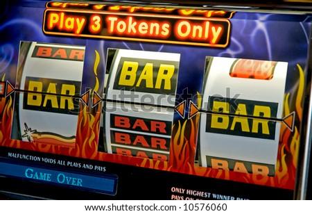 3 bars and a near win - stock photo
