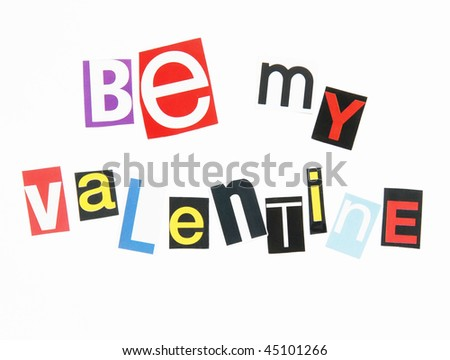 Be my valentine letters cutout magazines stock photo royalty free be my valentine in letters cutout from magazines ransom note style spiritdancerdesigns Images