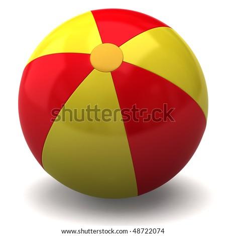 beach ball - stock photo