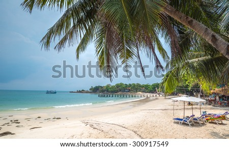 beach of the Koh Samed islamd, Thailand Rayong - stock photo