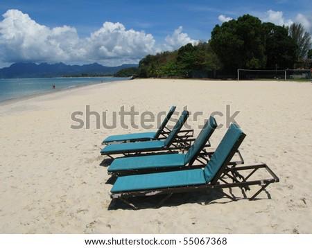 Beach scene. Langkawi island, Malayisa - stock photo