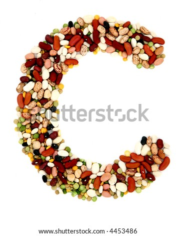 15 bean C - stock photo