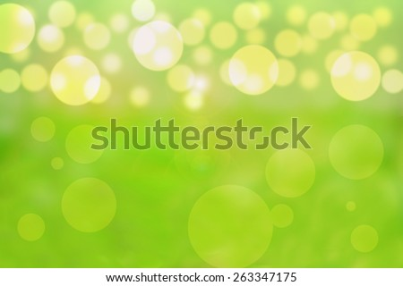 Beautiful bubbles effect illustration showing a vibrant yellow and green background - stock photo