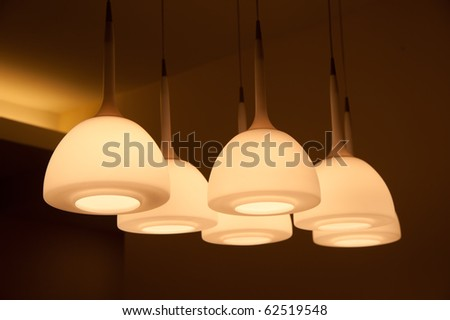Beautiful chandelier isolated