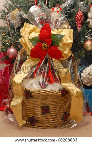 Gift basket stock images royalty free images vectors shutterstock beautiful christmas gift basket negle Images