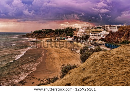 beautiful coast in albufeira, Portugal