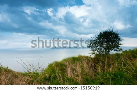 Beautiful costal landscape seashore from northern Ireland Uk - stock photo