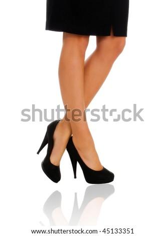 Beautiful female legs - stock photo