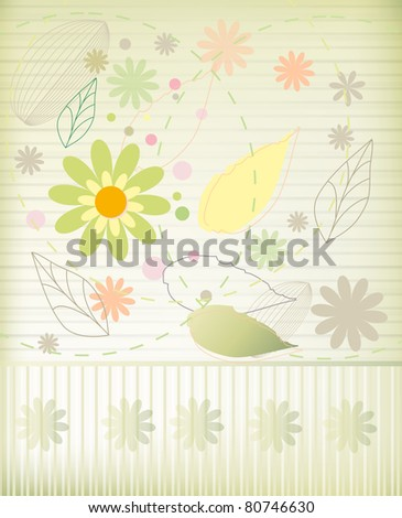 Beautiful flower background (raster version)