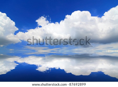 beautiful sky and cloud background - stock photo