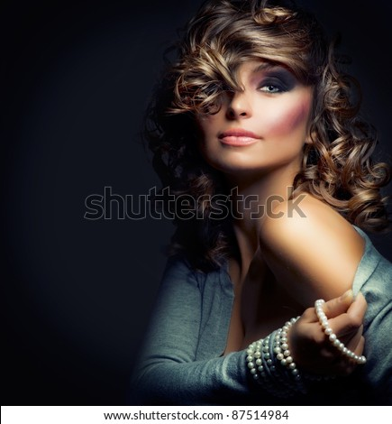 Beautiful Woman Portrait. Sexy Girl .Beauty model - stock photo