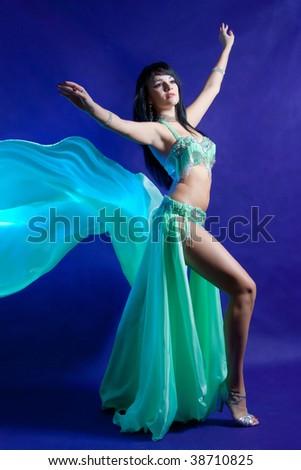 Beautiful women. Belly dancer. - stock photo