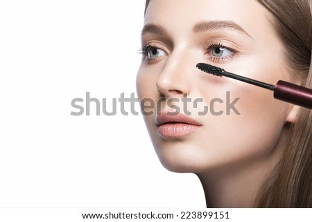 Young Military Women War Paint On Stock Photo 373536049 Shutterstock