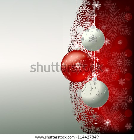 Beauty Christmas and New Year background - stock photo