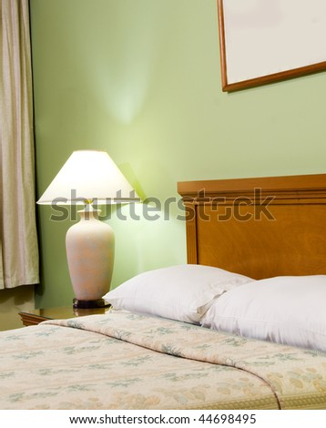 bedroom detail luxury hotel room managua nicaragua in central america - stock photo