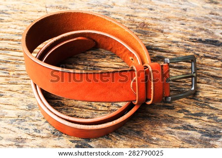 belt  on wood