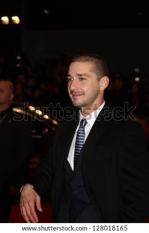 BERLIN, GERMANY - FEBRUARY 09: Shia LeBeouf  arrives for the 'The Neccessary Death of Charlie Countryman' Premiere during the 63rd Berlinalel Festival at Palast on February 9, 2013 in Berlin, Germany