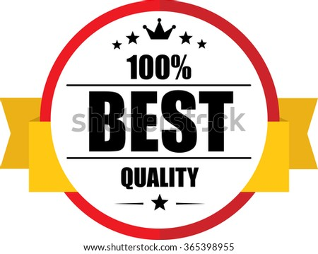 100% Best quality guarantee red, Button, label and sign. - stock photo