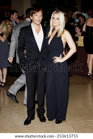 02/10/2009 - Beverly Hills - Jessica Simpson and Ken Paves at the Operation Smile's 8th Annual Smile Gala held at the Beverly Hilton Hotel in Beverly Hills, California, United States.  - stock photo