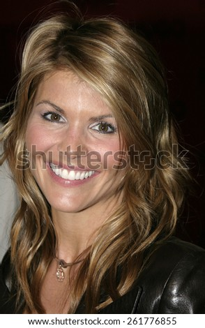 03/15/2005 - Beverly Hills - Lori Loughlin at the Hugo Boss Fall Winter 2005 Men's and Women's Collections Party and Fashion Show - Arrivals at The Beverly Hills Hotel. - stock photo