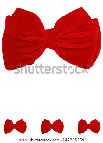 1 big and 3 small bow ties card - stock photo
