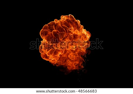 big bang isolated on black background - stock photo