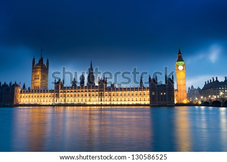 Big Ben and Palace of Westminster London England UK