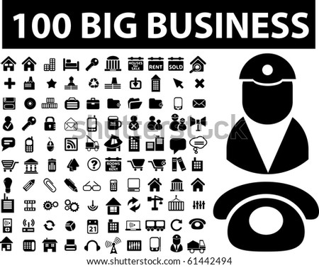 100 big business signs. raster version