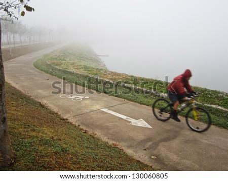 bike in the park - stock photo