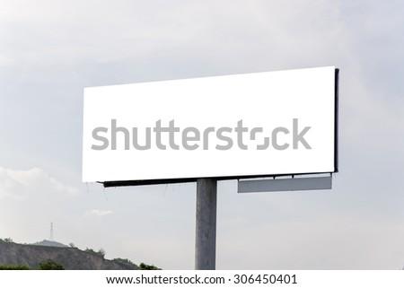 billboards background - stock photo