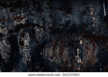 Black Abstract large rust surface background. Grungy background with space for text or image. Dark vintage wall  - stock photo