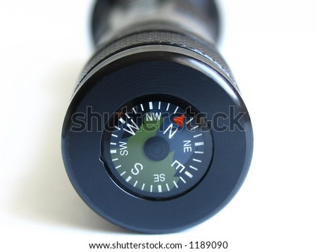 black compass - stock photo
