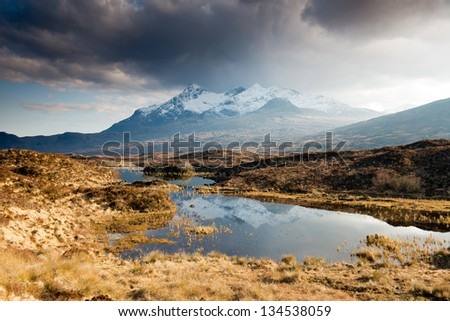 Black Cuillin range, Isle of Skye, Scotland - stock photo
